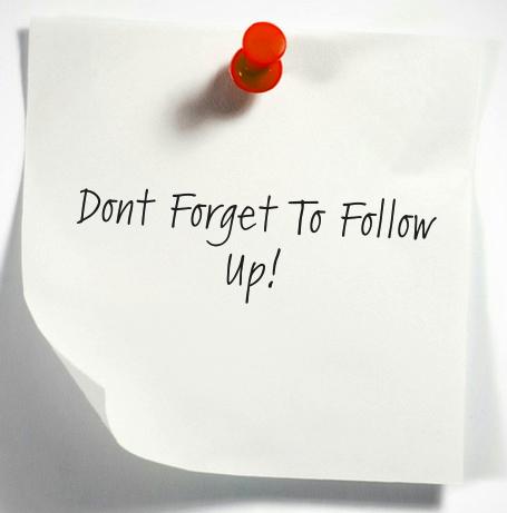 nu uita de follow up more networking