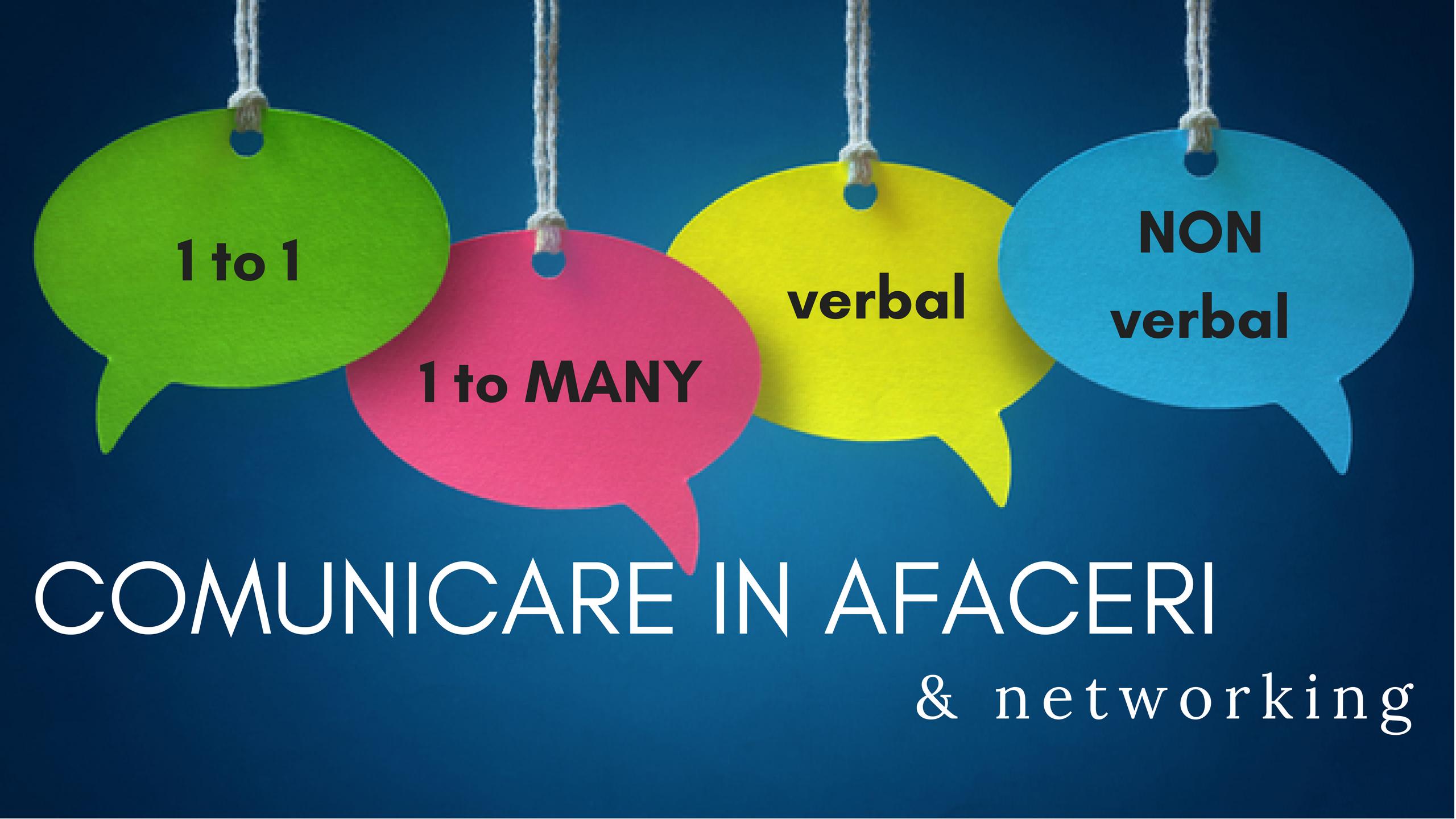 SEMINAR COMUNICARE IN AFACERI & NETWORKING